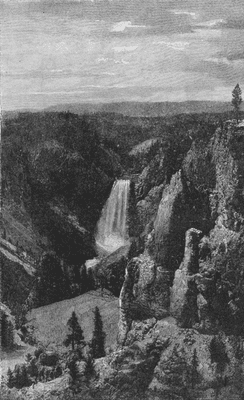 WYOMING: Lower falls & Canon of Yellowstone from point Lookout, 1891